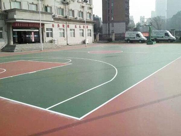 硅PU球场地坪材料