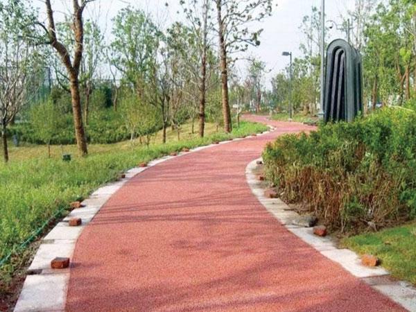 彩色生态透水混凝土地坪材料